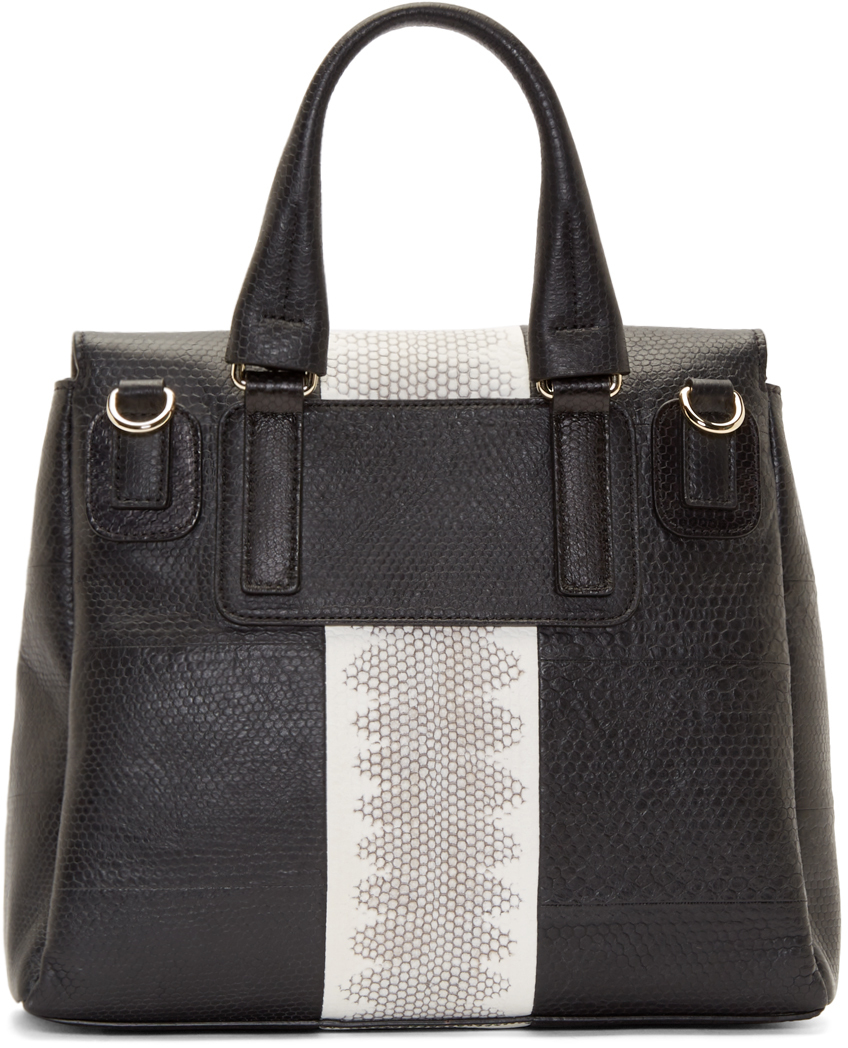 9f06edcac0 Lyst - Givenchy Black Snakeskin Small Pandora Pure Bag in Black