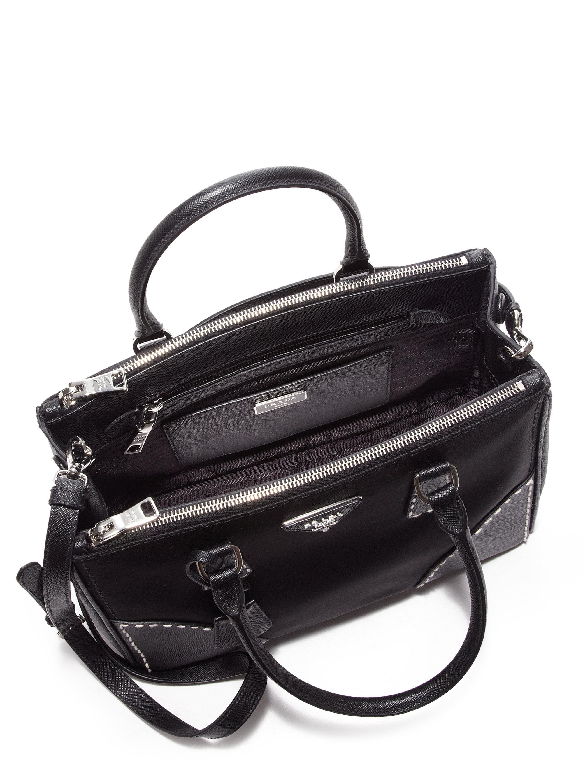 eade8b90c7cd ... bag ffeb6 8e747  norway lyst prada nylon saffiano double zip tote in  black a67ca e1d27