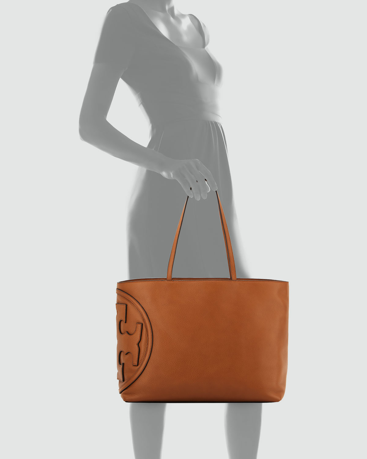 913ca5ff1003 Lyst - Tory Burch All T East-West Leather Tote in Brown