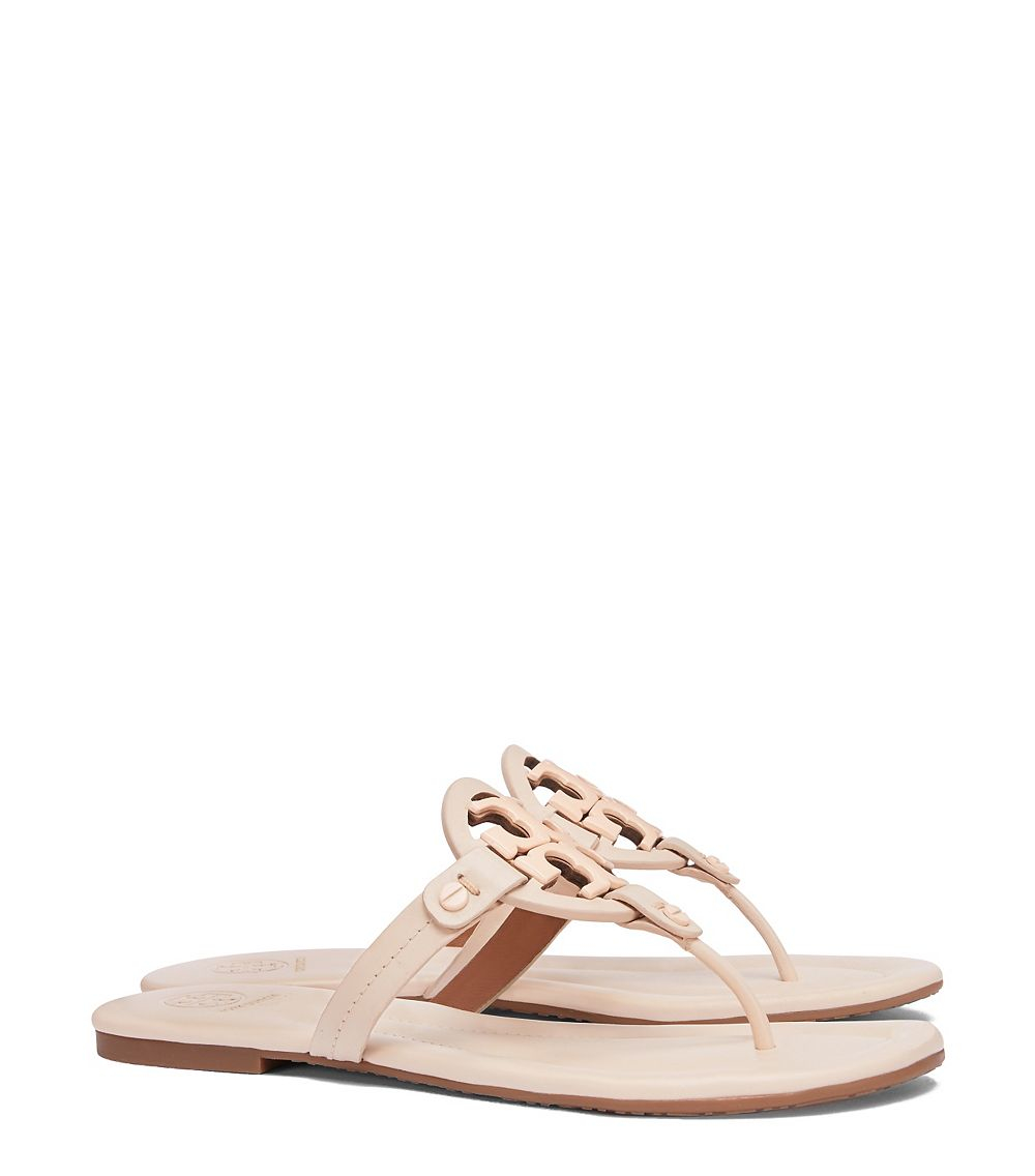 Tory Burch Miller Leather Sandals In Pink Lyst