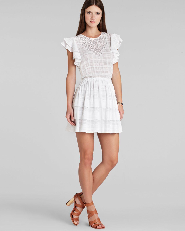 Lyst - Bcbgmaxazria Bcbg Max Azria Dress Joice Ruffle in White