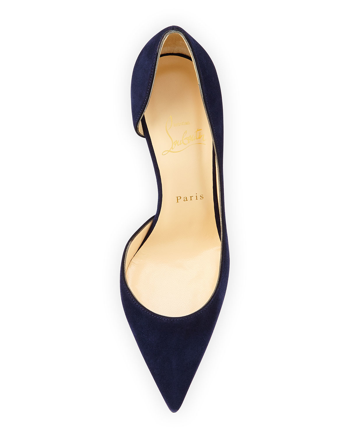 christian louboutins price - Christian louboutin Iriza Half D'Orsay Suede Red Sole Pump in Blue ...