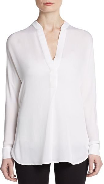 Theory Long Sleeve Blouse 10