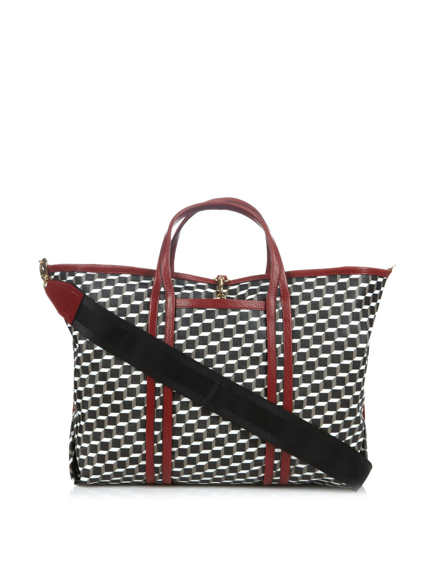 Lyst Pierre Hardy Cube Print Coated Canvas Tote In Black
