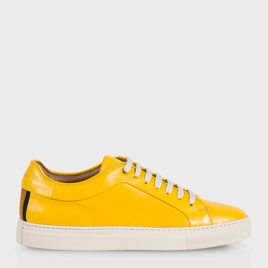 Paul Smith Nastro Buffalino-Leather Sneakers In Yellow For