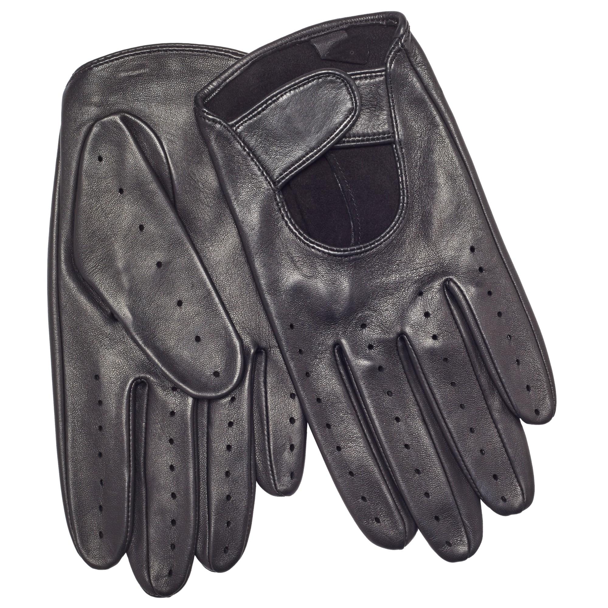 John lewis leather driving gloves - John Lewis Men S Black Leather Driving Glove