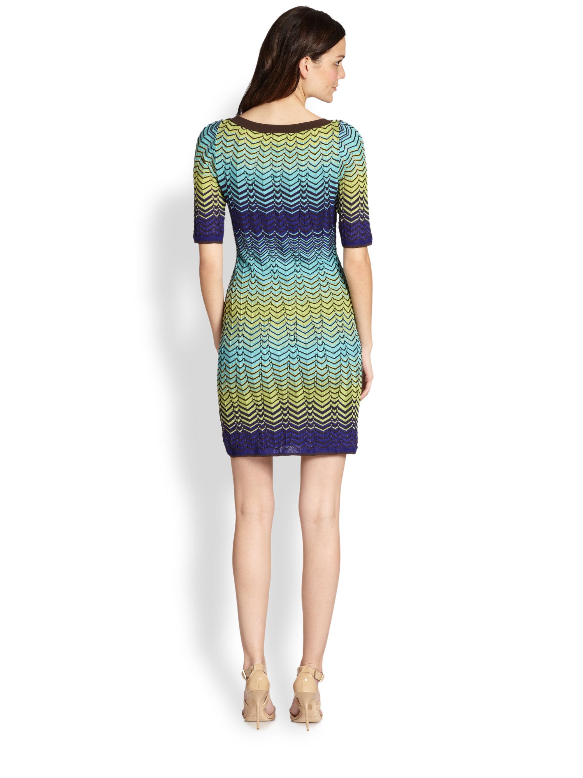 Zigzag knitted dress Missoni Sale Browse Release Dates Online Visa Payment Sale Online mDlSGbT