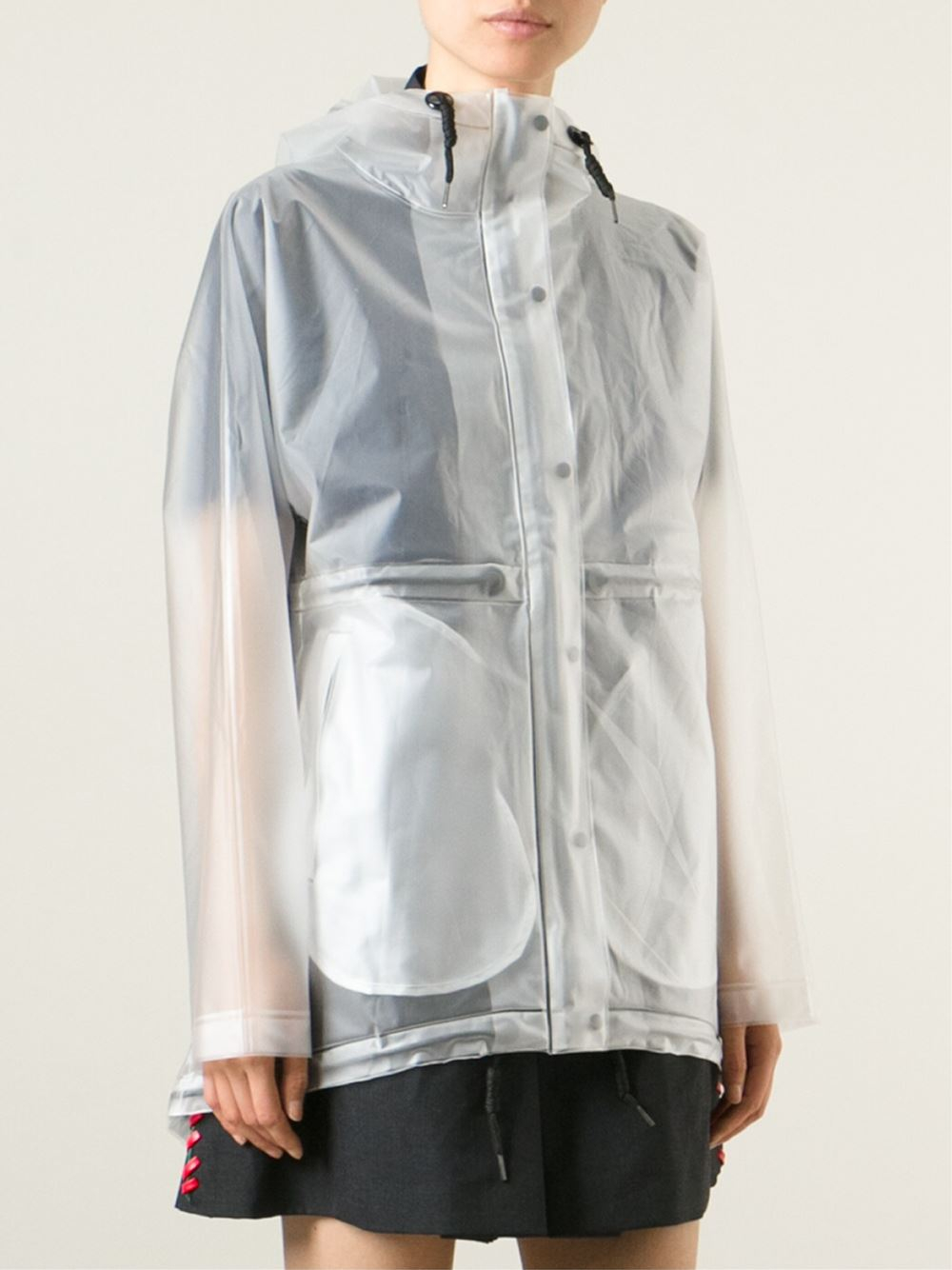 Hunter Hooded Raincoat In White Lyst