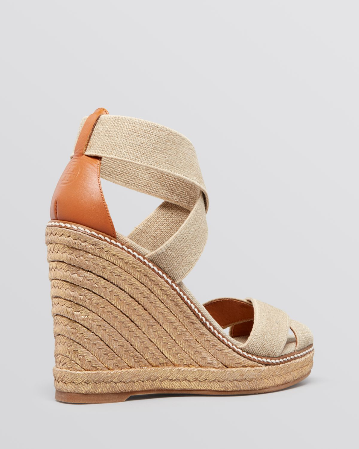 Lyst Tory Burch Platform Wedge Espadrille Sandals Adonis
