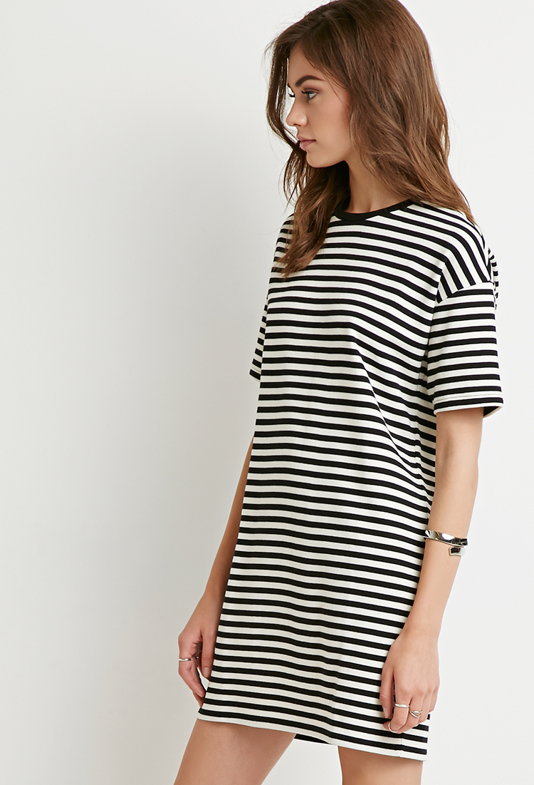 Black And White Striped T Shirt Dresses - Ladies Sweater ...