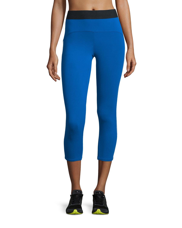 heroine sport studio capri sport leggings in blue lyst. Black Bedroom Furniture Sets. Home Design Ideas