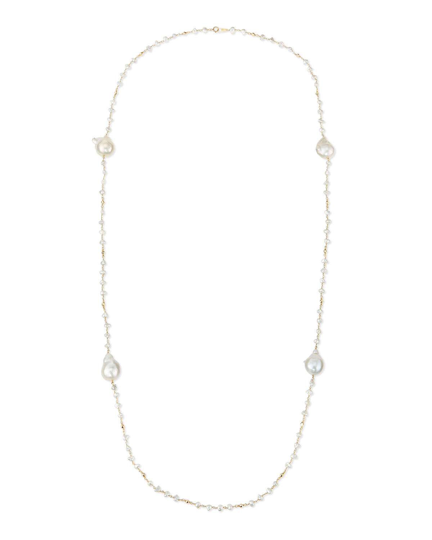 Keshi Pearl Necklace: Mizuki Keshi Pearl Necklace In White