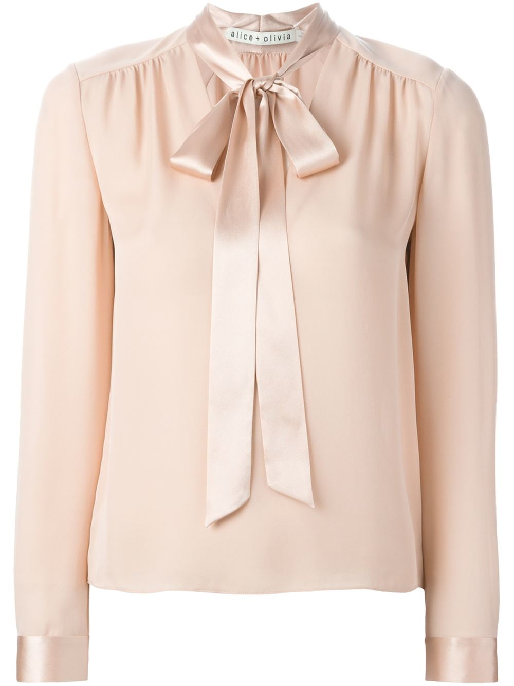1aa69d389816b0 Alice + Olivia Pussy Bow Blouse in Pink - Lyst