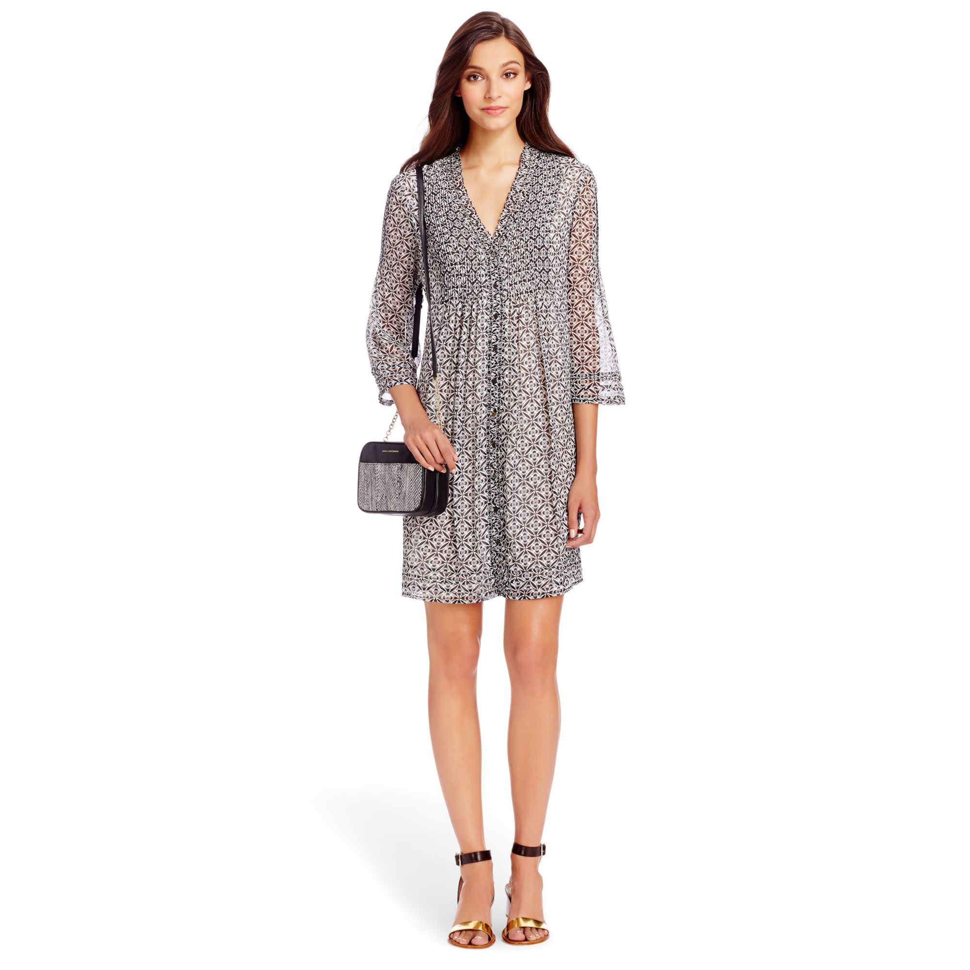 Lyst diane von furstenberg dvf layla chiffon tunic dress for Diane von furstenberg clothes