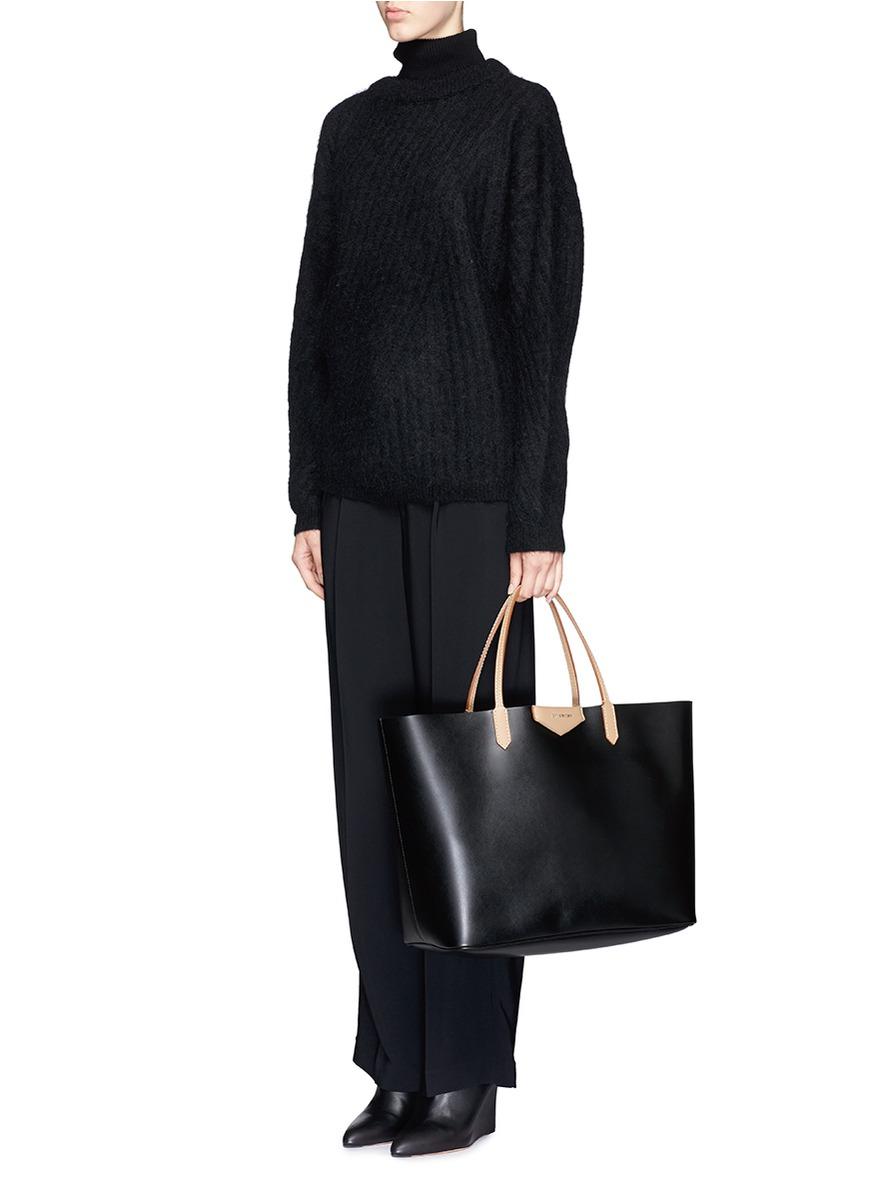 ab07b8c8ac9b Lyst - Givenchy Antigona Leather Tote in Black
