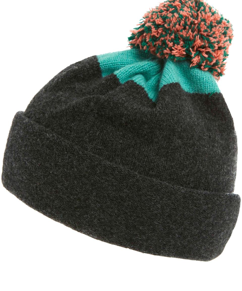Lyst - Jo Gordon Charcoal Top Spot Pom Pom Hat in Gray for Men 583ff1e24ab