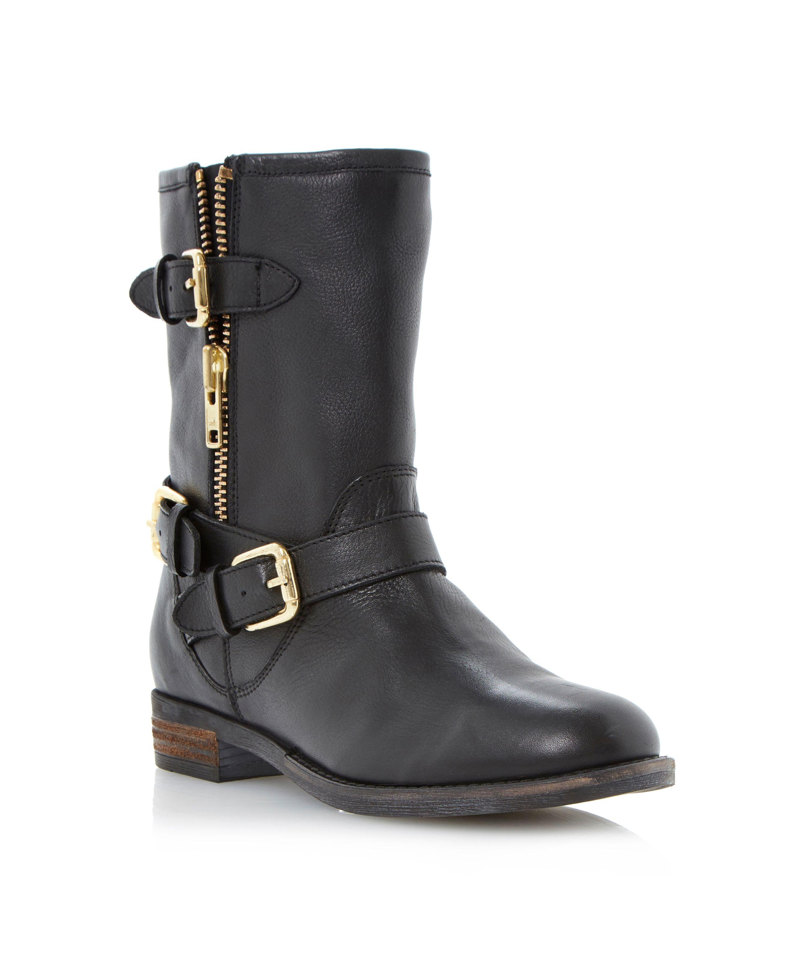 dune robbin simple biker boots in black lyst