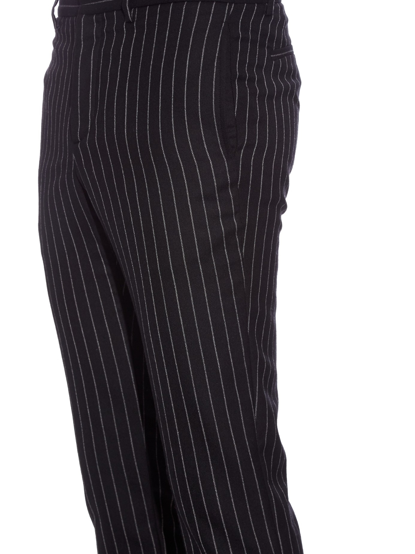 Lyst Givenchy Pinstripe Slim Fit Wool Trousers In Black