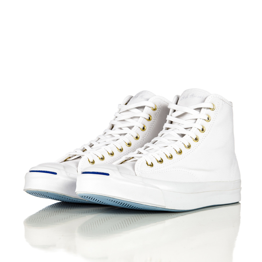 7bfceb808bc3 Lyst - Converse Jack Purcell Signature Duck Canvas Hi In White in ...