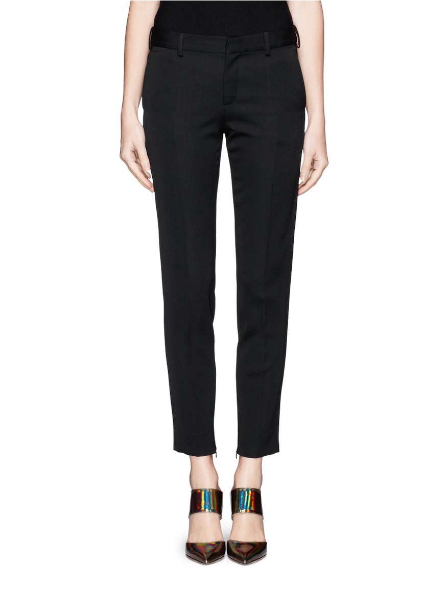 Girls' Black Pants. invalid category id. Girls' Black Pants. Showing 48 of results that match your query. Search Product Result. Product - Girls School Uniform Stretch Interlock Jegging. Product - Girls' School Uniform Stretch Skinny Pants With Panels At Knees. Product Image.
