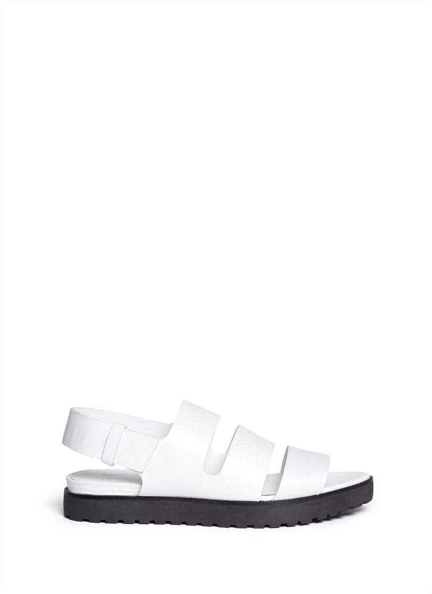 Wang Leather Sandals Lyst White 'alisha' In Alexander nOX8Pw0k