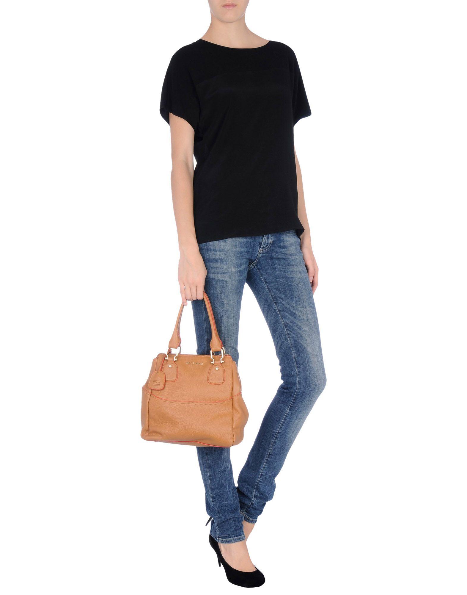 tommy hilfiger handbag in beige camel lyst. Black Bedroom Furniture Sets. Home Design Ideas