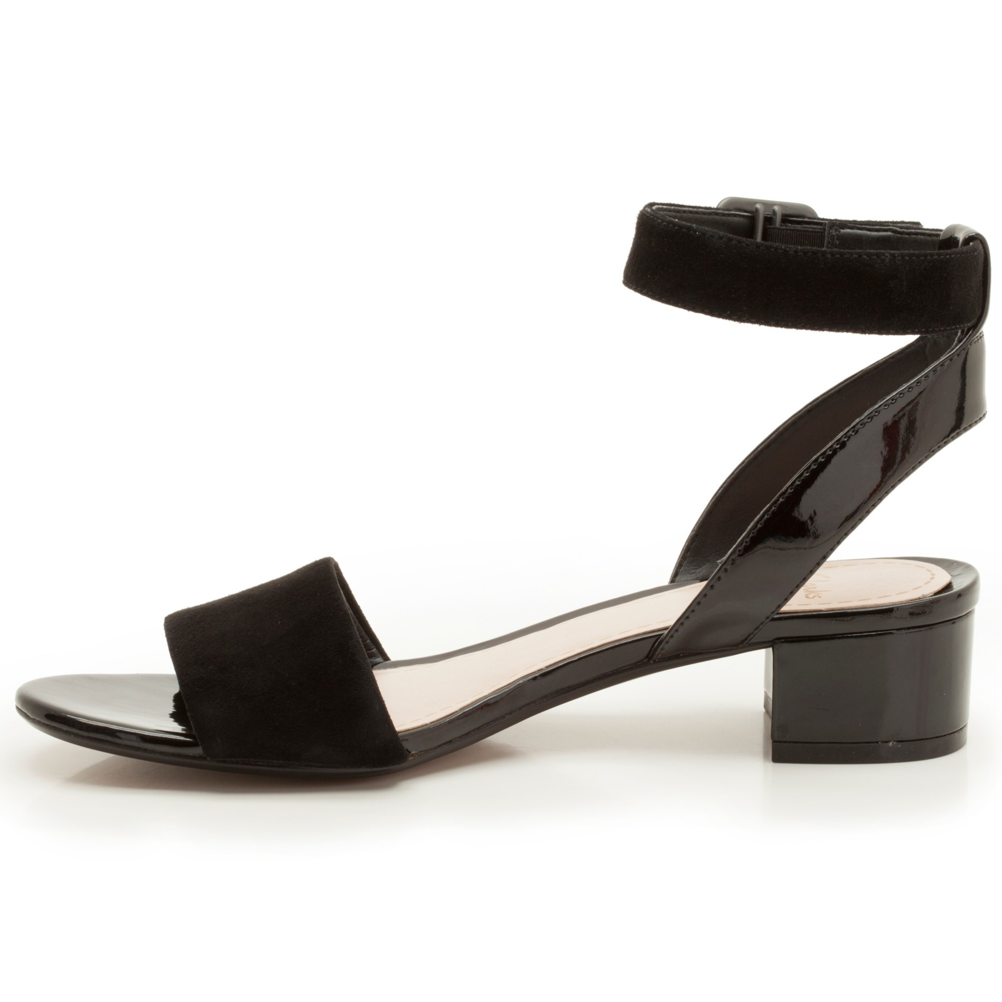 a666c40dbad204 Clarks Sharna Balcony Suede Sandals in Black - Lyst