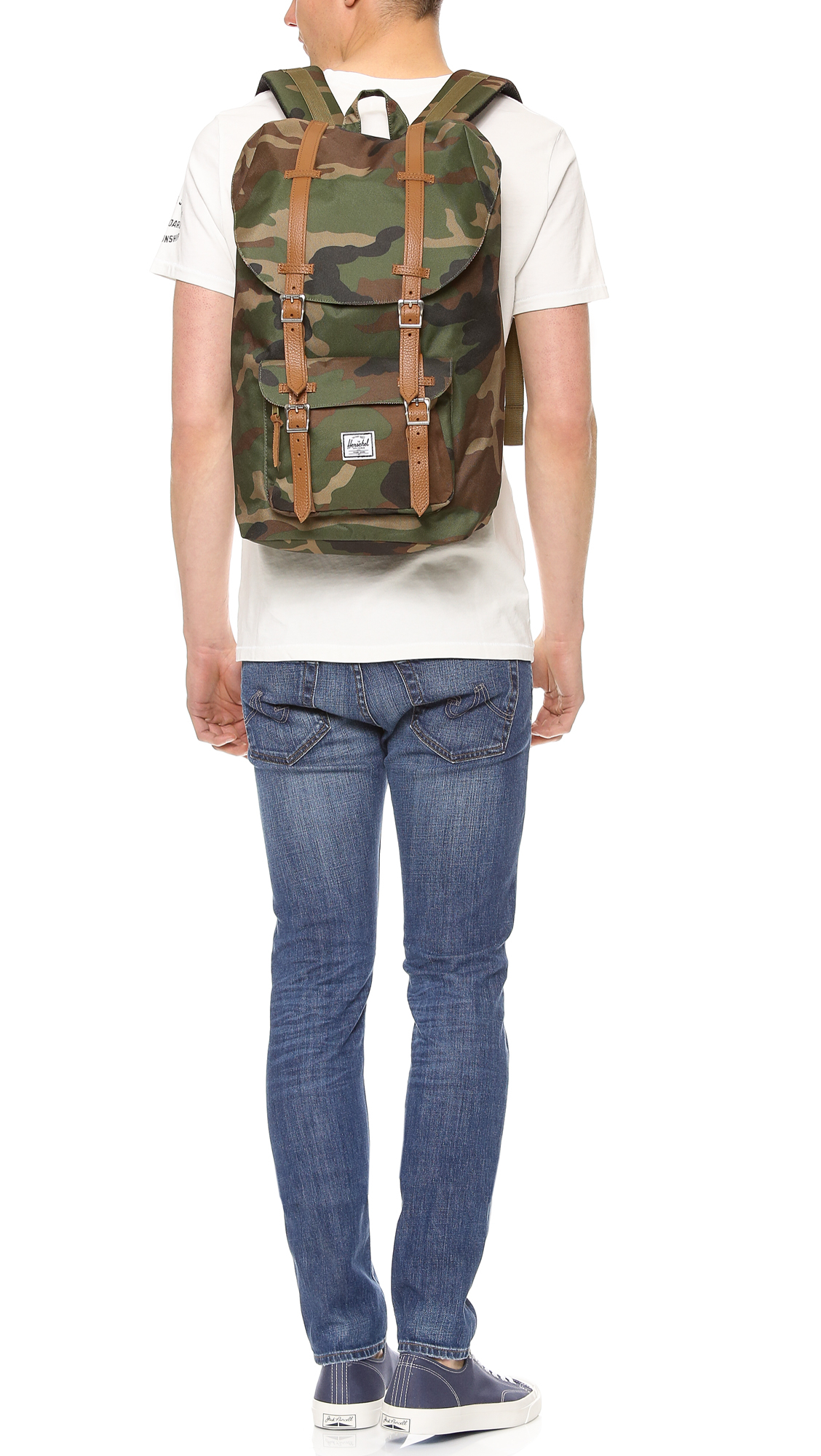 Lyst - Herschel Supply Co. Little America Backpack in Green for Men 80a628098e71e
