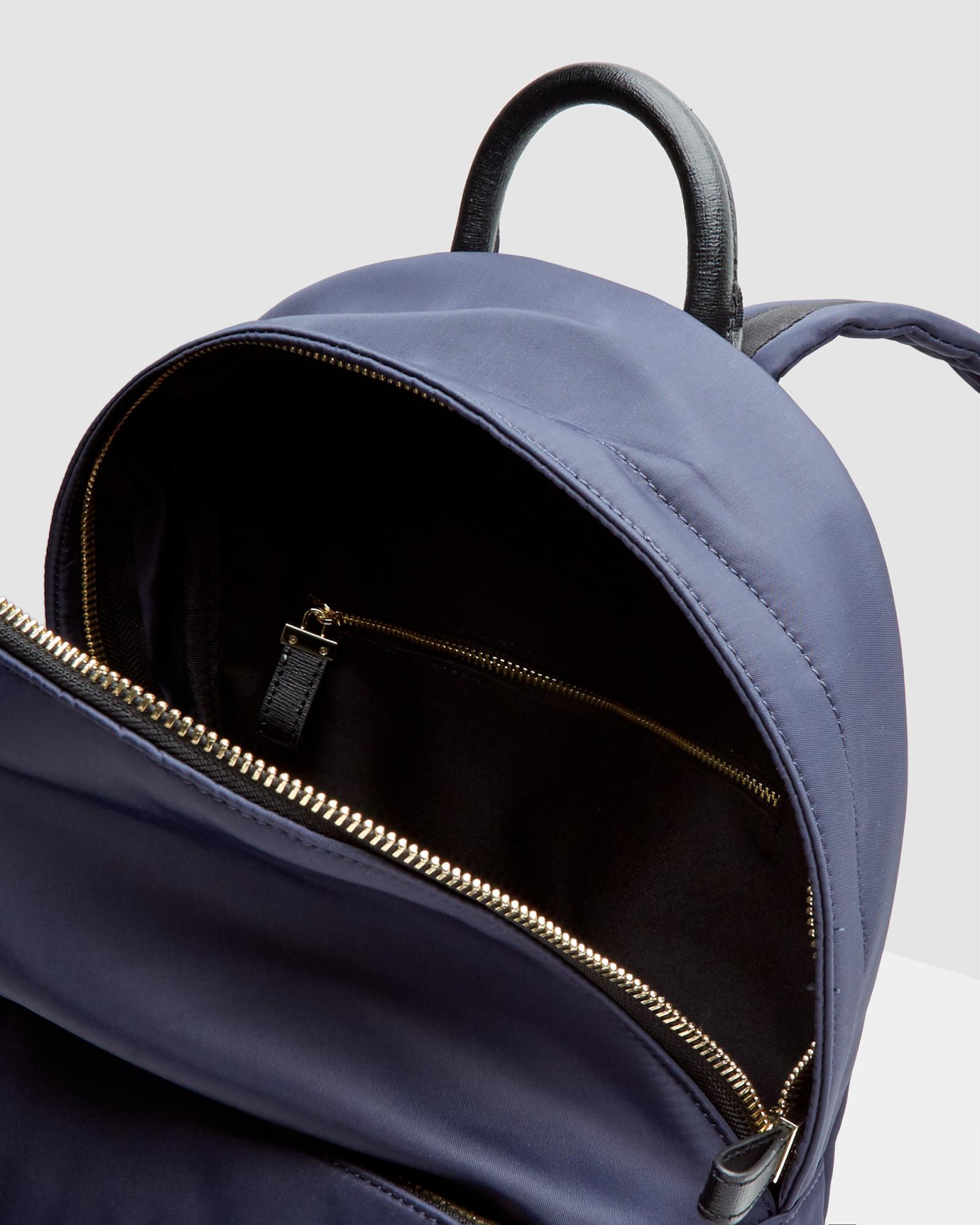 ted baker classic backpack in blue lyst. Black Bedroom Furniture Sets. Home Design Ideas