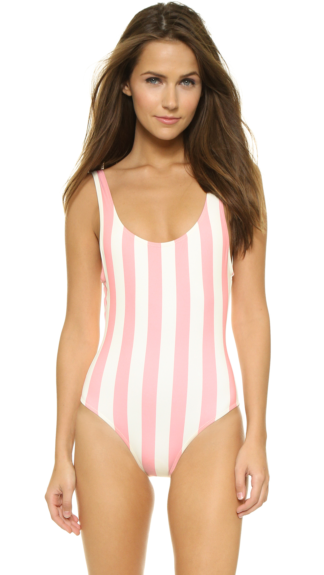 acfc3701a77 Lyst - Solid   Striped The Anne Marie One Piece Swimsuit - Pink ...