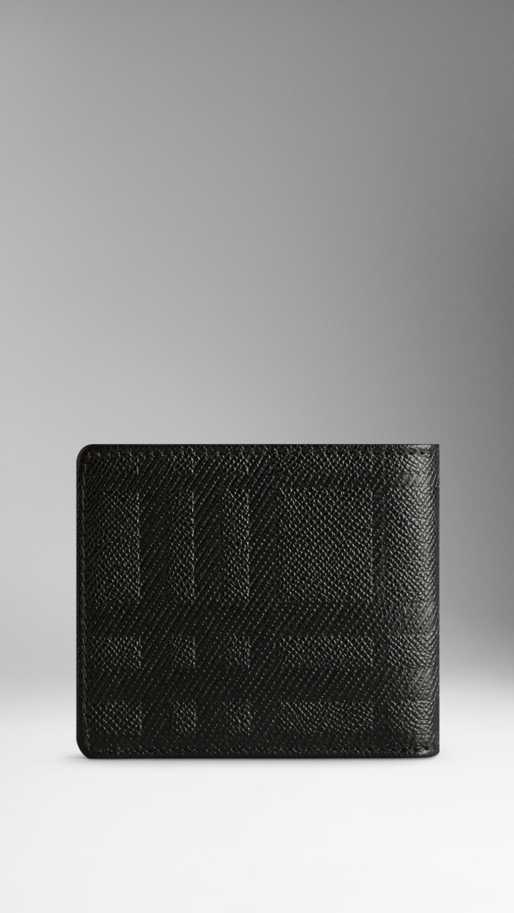 embossed leather folding wallet - Black Burberry YAm44knt