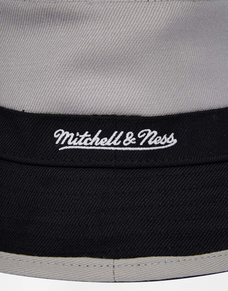 44927ae605f38 Mitchell   Ness La Kings Colour Block Bucket Hat in Black for Men - Lyst