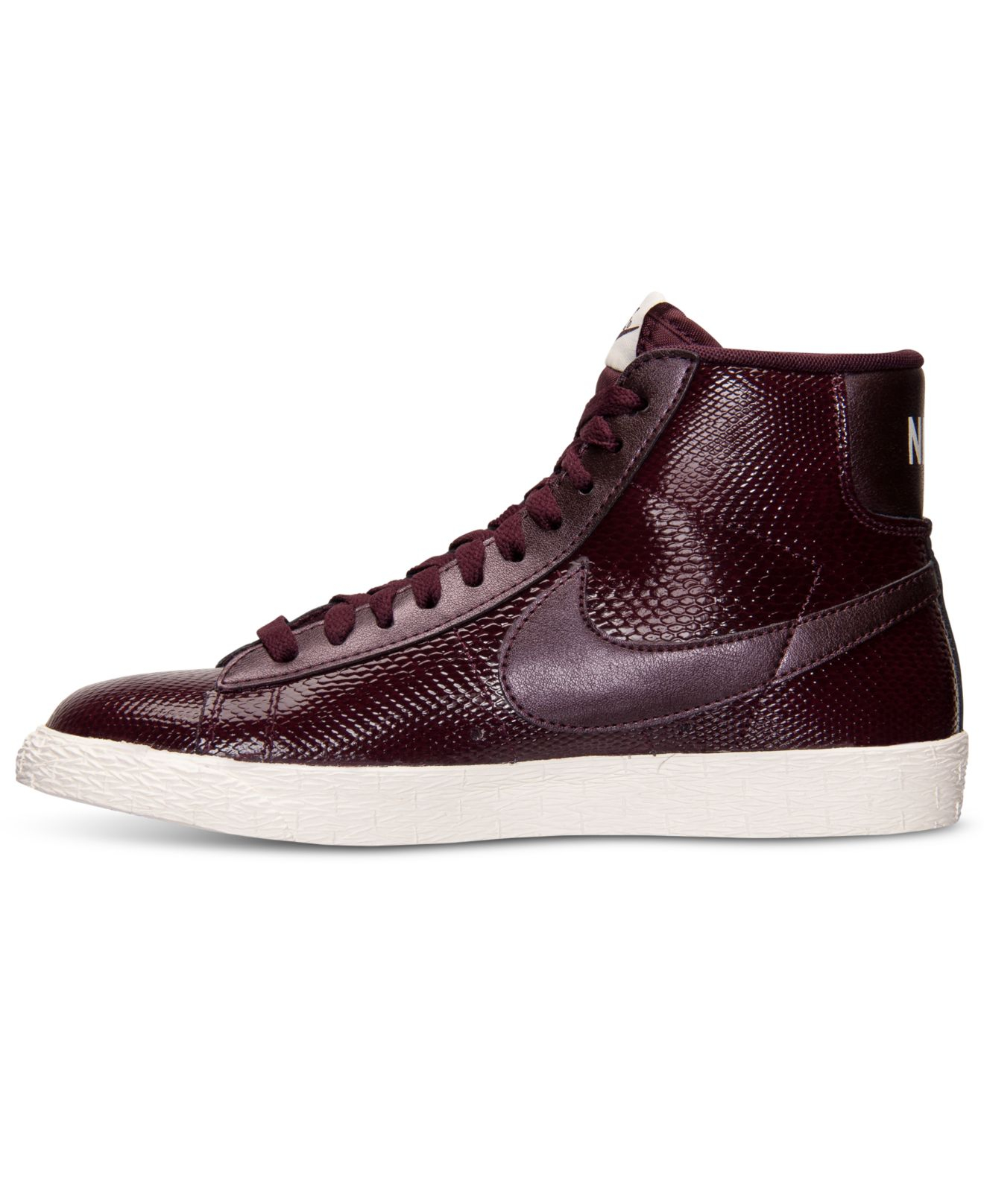 nike blazer mid premium sneakers in purple lyst. Black Bedroom Furniture Sets. Home Design Ideas