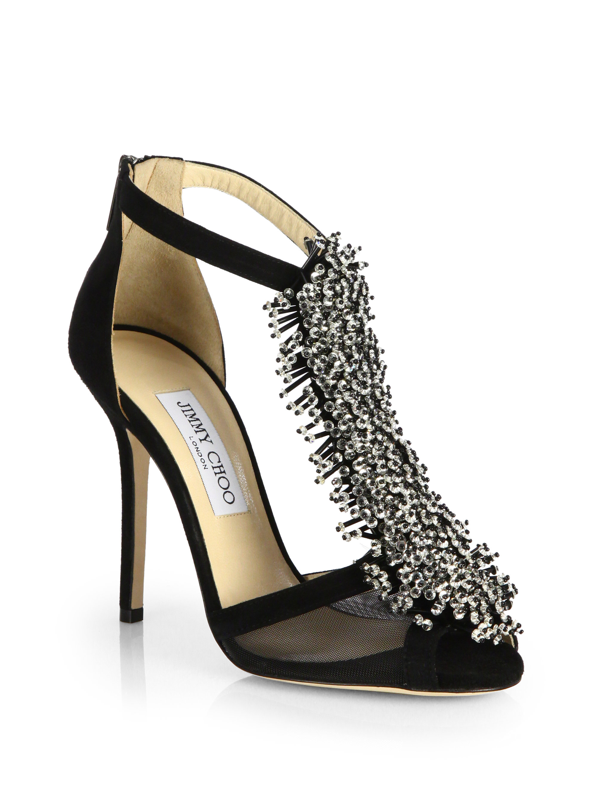 Jimmy Choo Beaded Suede Sandals cheap very cheap sale 2014 new fashionable cheap price latest for sale cheap best place rr30HmHKSE