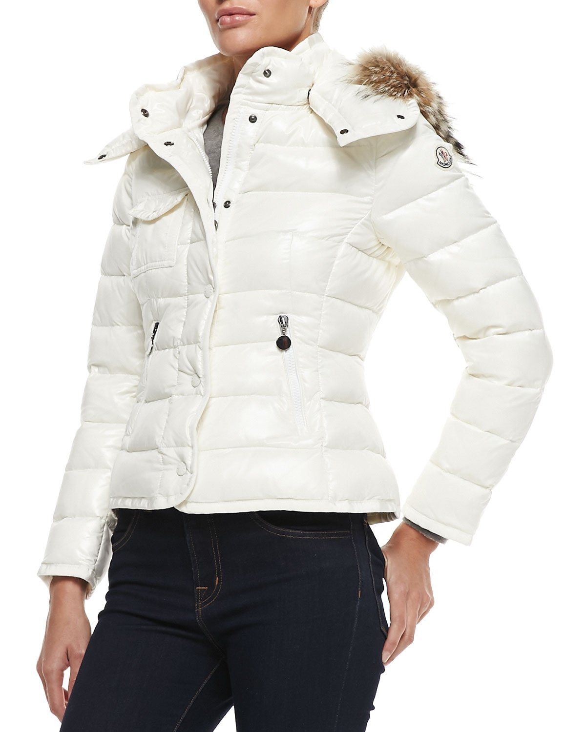 moncler white puffer