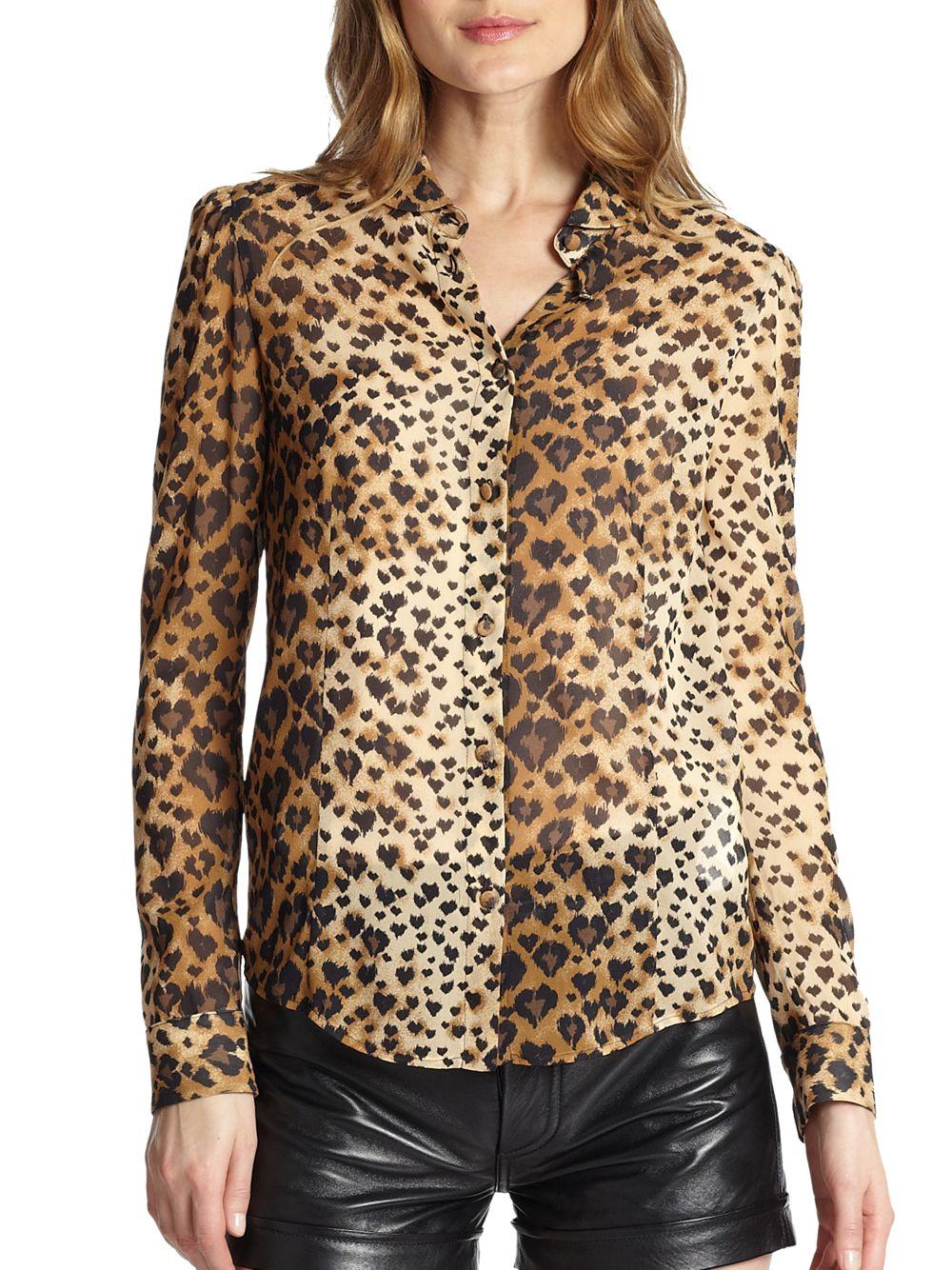 Leopard Blouse Ebay 42