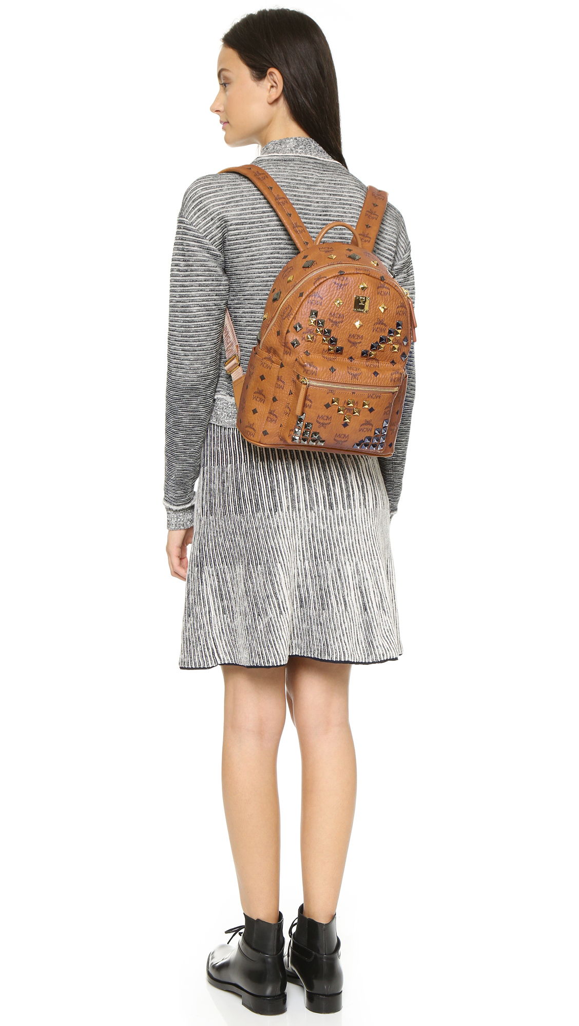 cded2a20fa5 MCM Stark X-mini Side Stud Backpack in Brown - Lyst