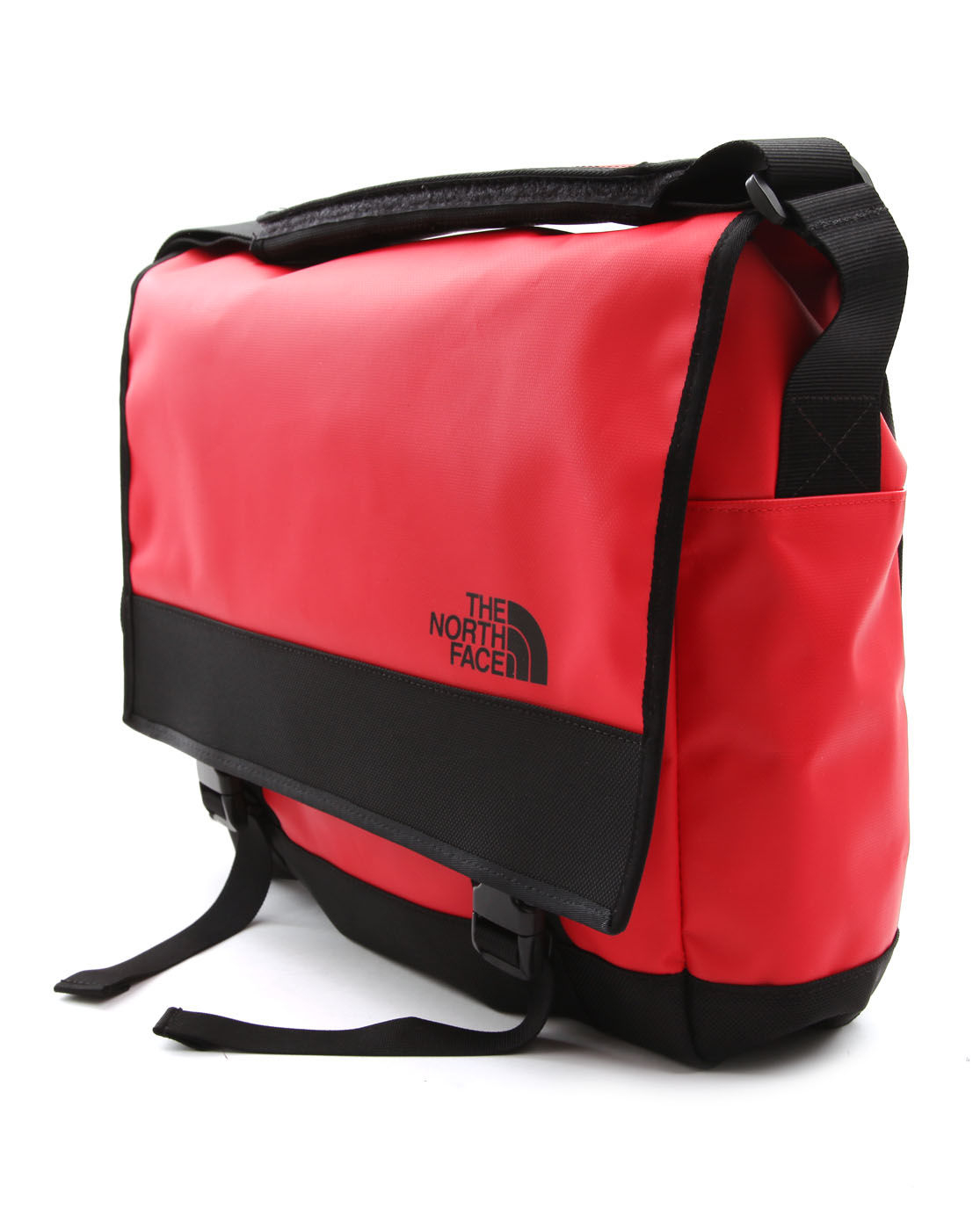the north face base camp messenger m red bag in red for. Black Bedroom Furniture Sets. Home Design Ideas