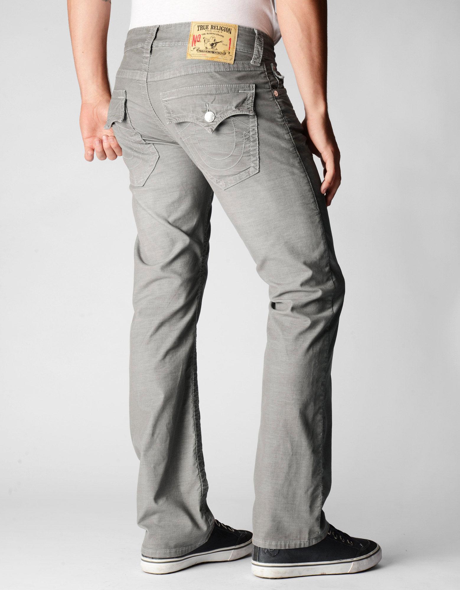 792b4f978 True Religion Mens Ricky Straight Leg Corduroy Pants in Gray for Men ...