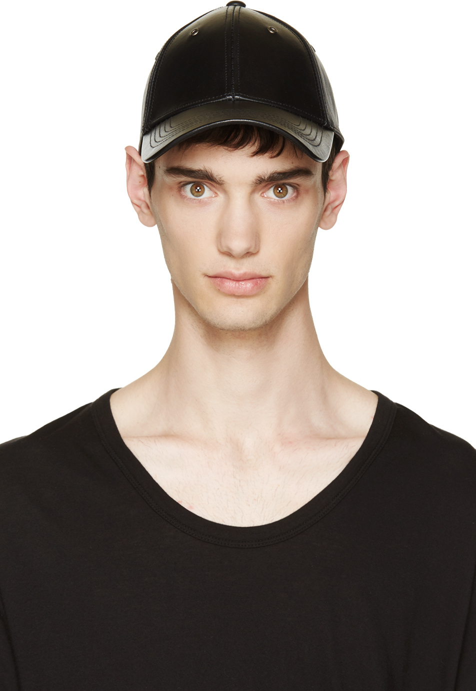 89f5ffc441a Marc By Marc Jacobs Black Leather Snapback Cap in Black for Men - Lyst