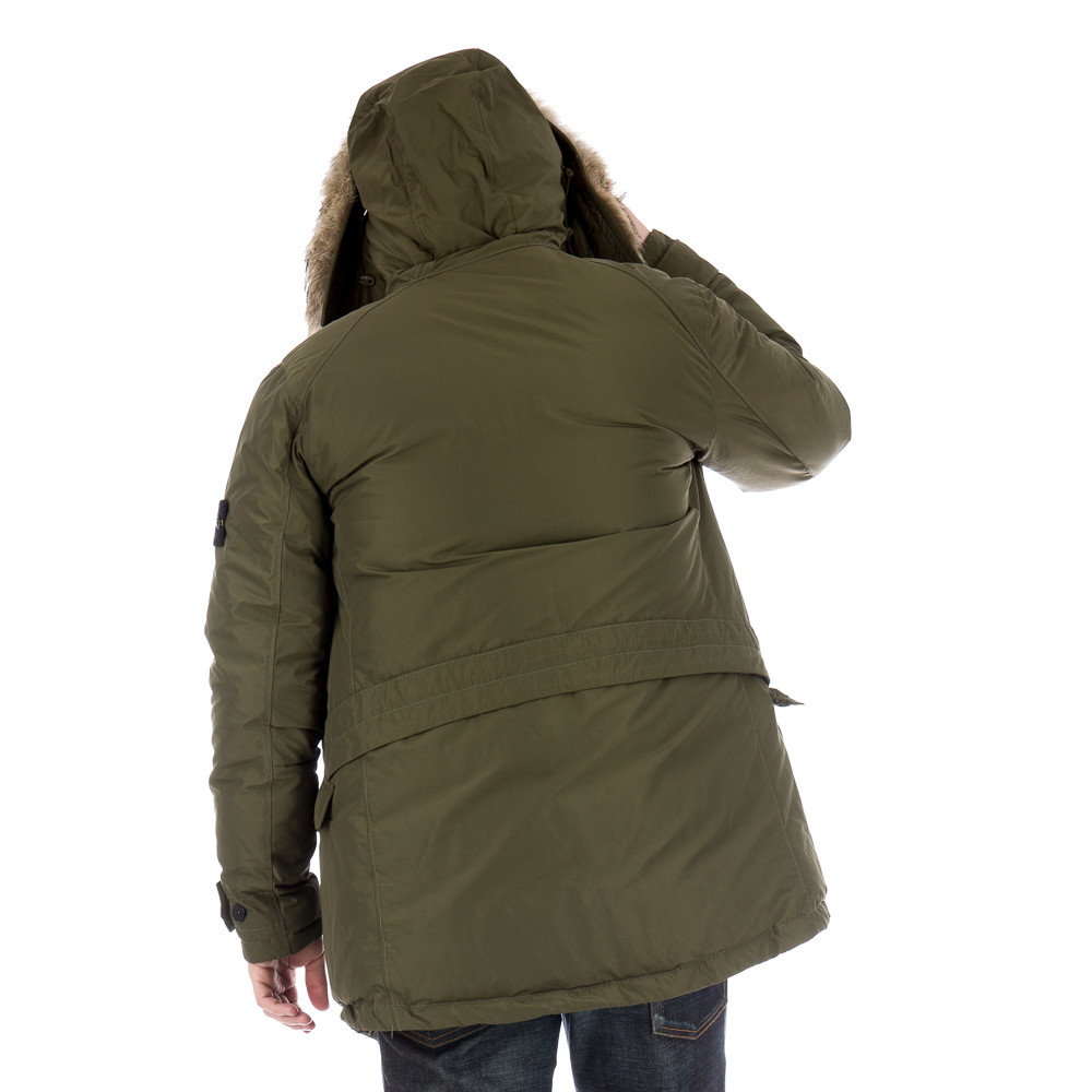Stone island 40926 Micro Reps Down Parka In Olive in Green for Men ...