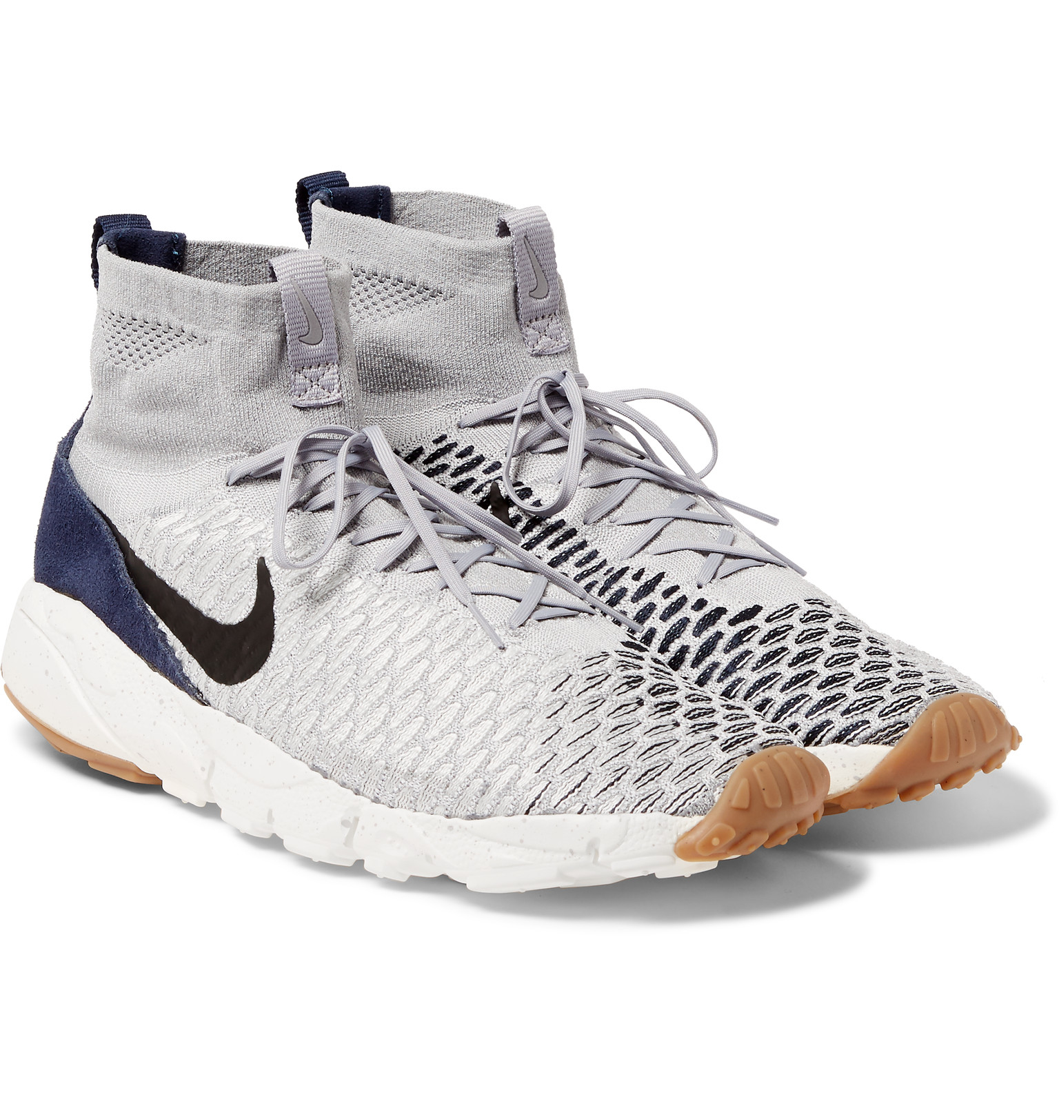 33c8d8274cd8 Nike Air Footscape Magista Flyknit High-top Sneakers in Gray for Men ...
