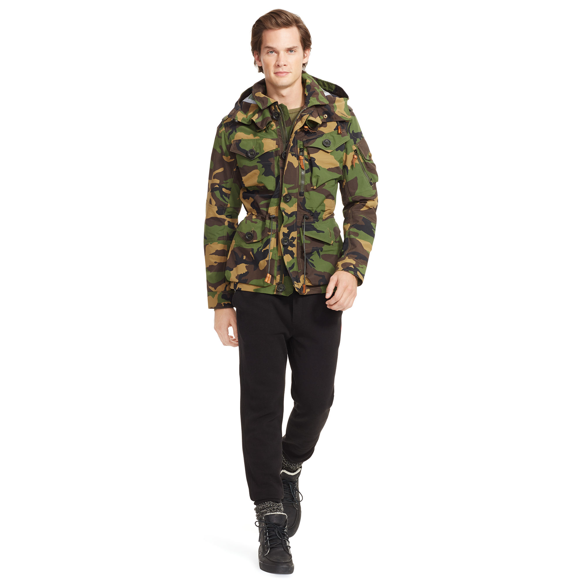 add05664277b Lyst - Polo ralph lauren Camouflage Anorak in Green for Men