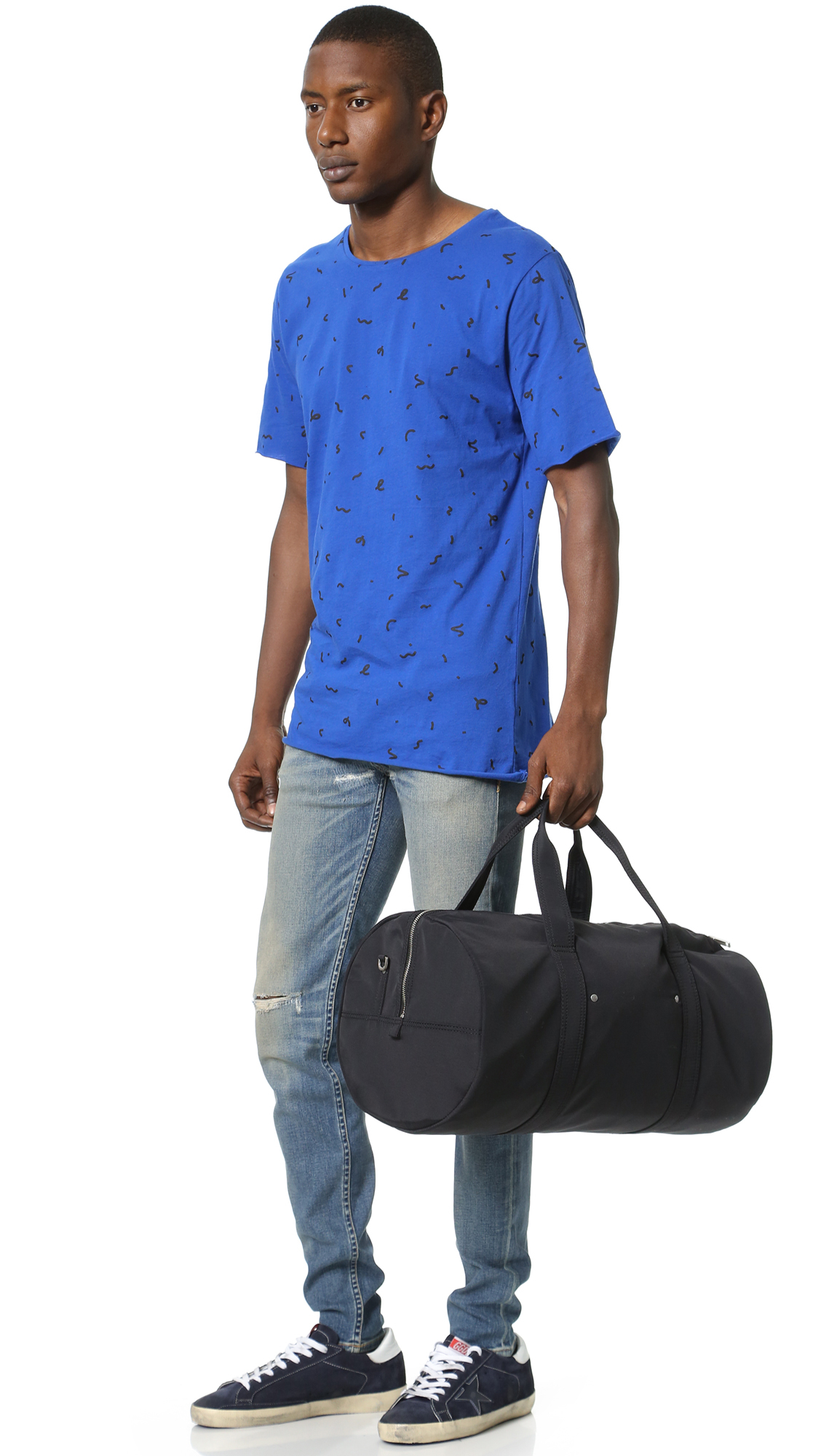 7b56c05cc0 Lyst - Jack Spade Tech Nylon Gym Duffel Bag in Black for Men