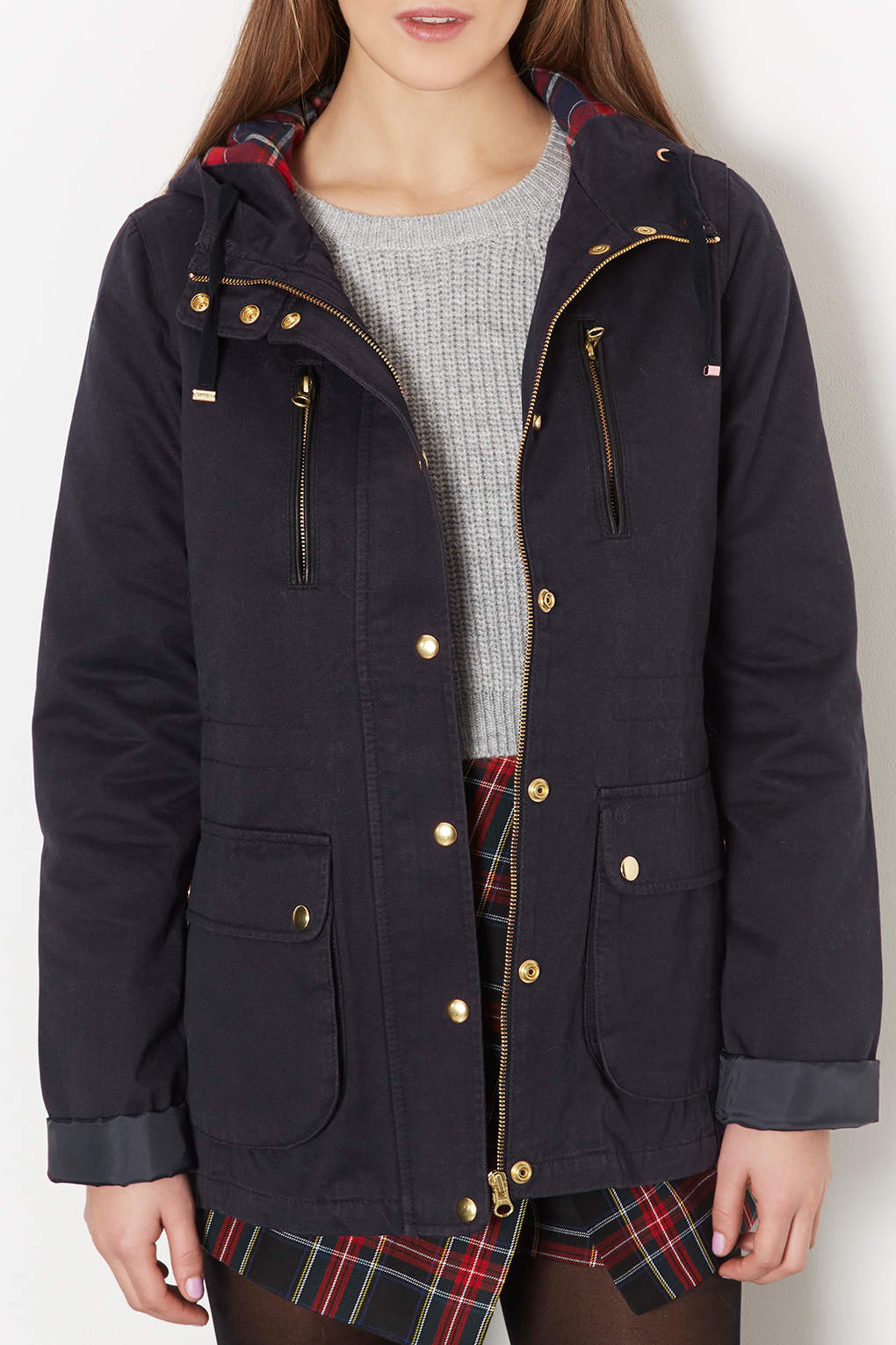 Lyst - Topshop Tall Hooded Lightweight Jacket in Blue