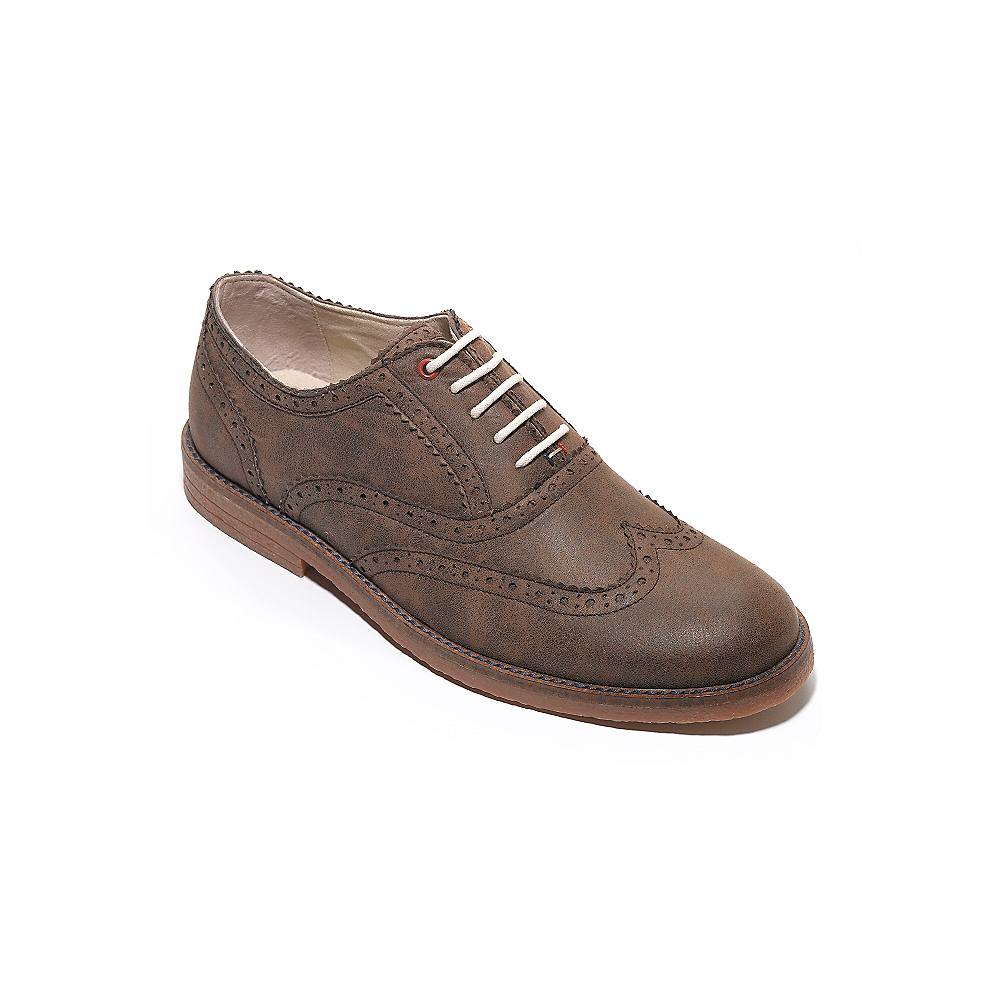 hilfiger suede oxford shoe in brown for
