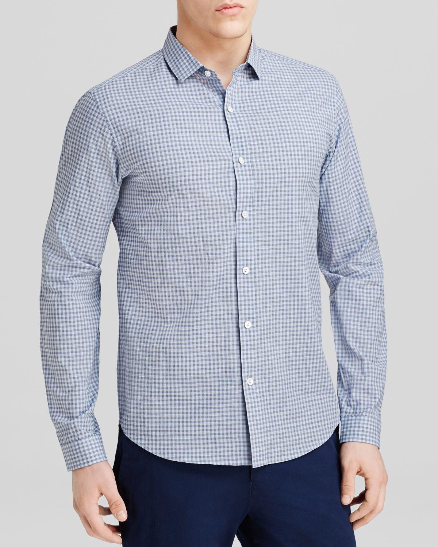 Theory Wilten Bernays Check Button Down Shirt Slim Fit