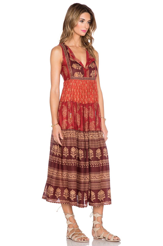 Raga Indian Summer Maxi Dress in Red