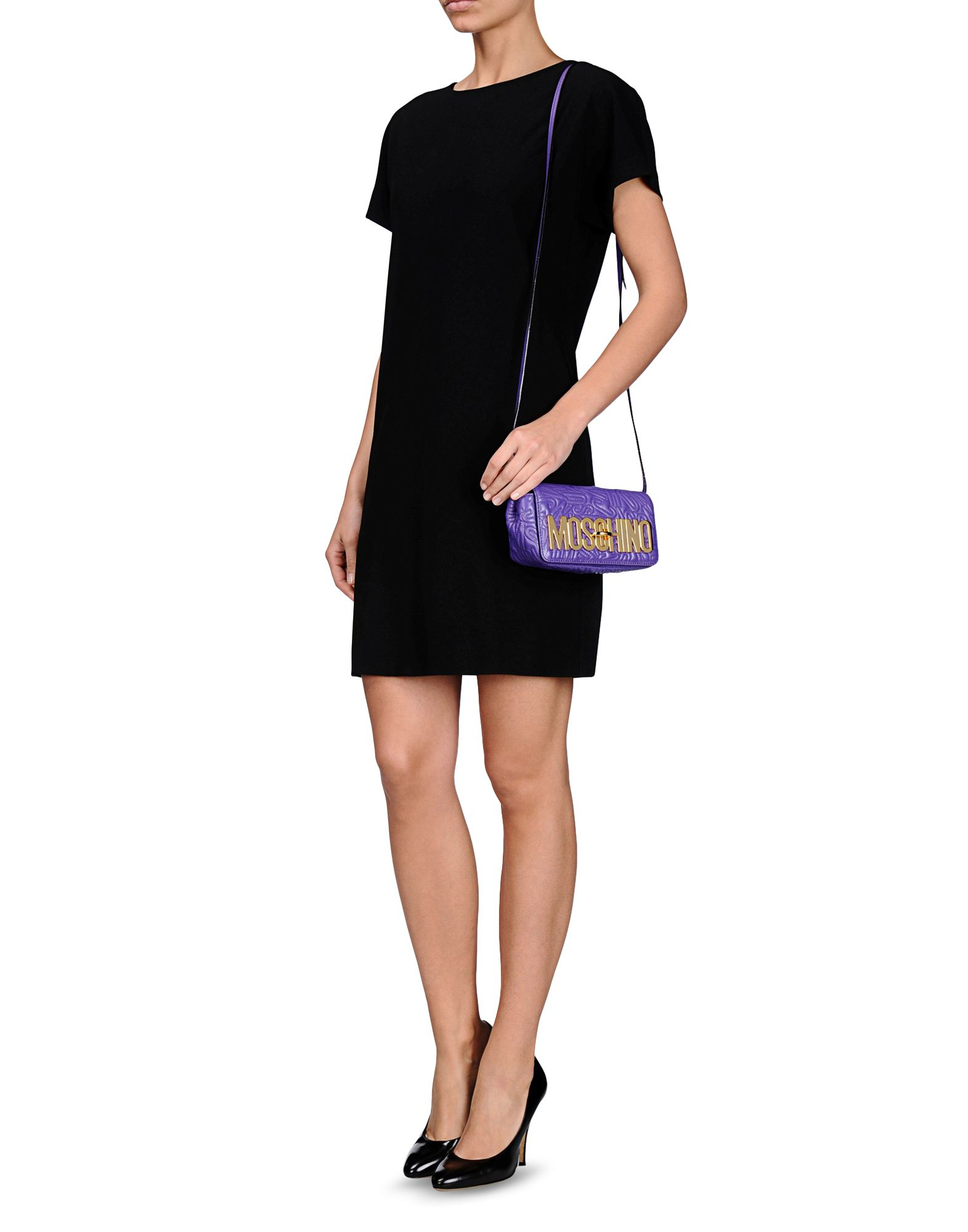 Moschino Small Leather Bag In Purple Lyst