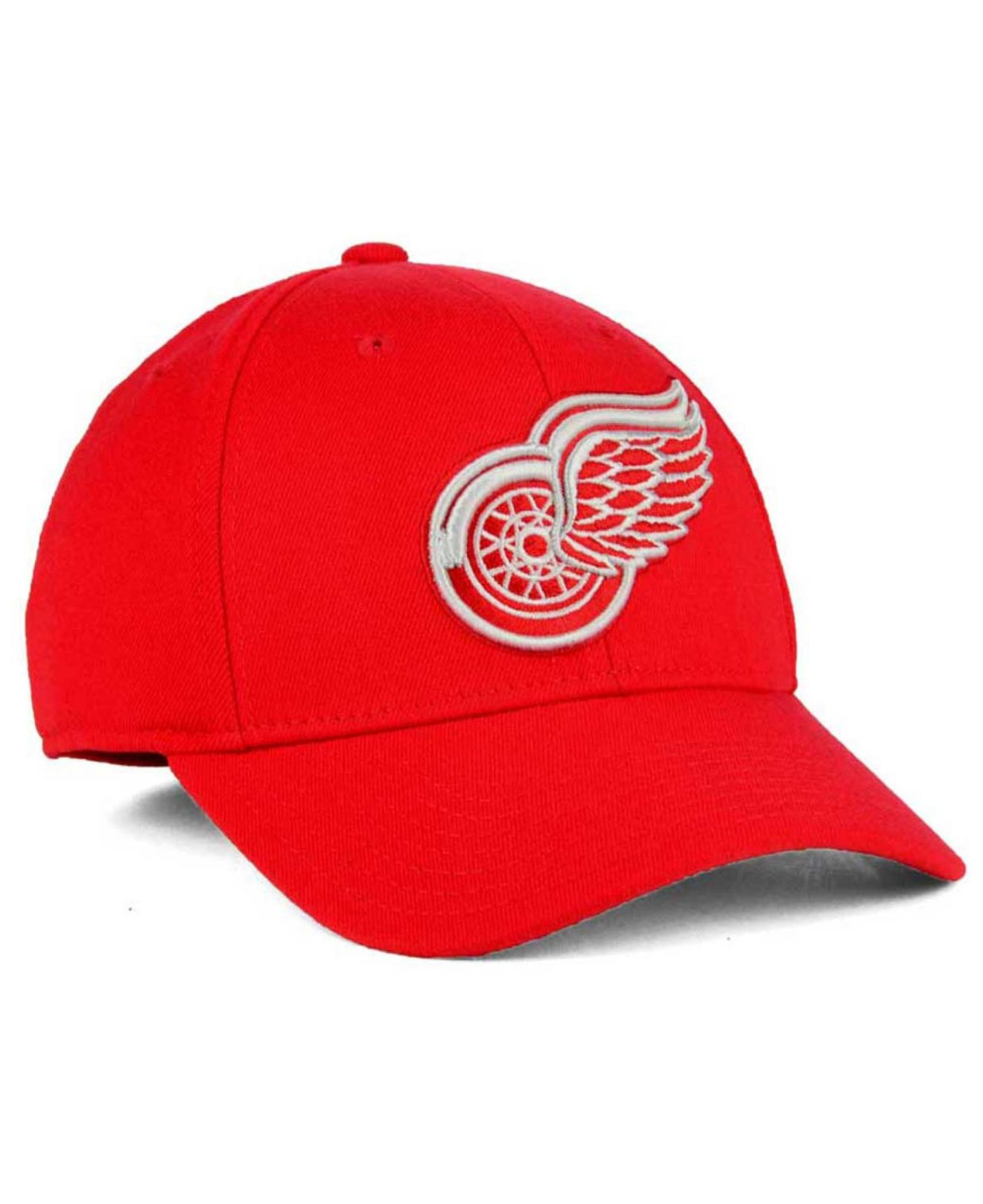 in stock c02bc ebfbf ... greece lyst reebok detroit red wings basic stretch cap in red for men  d2d96 716ac
